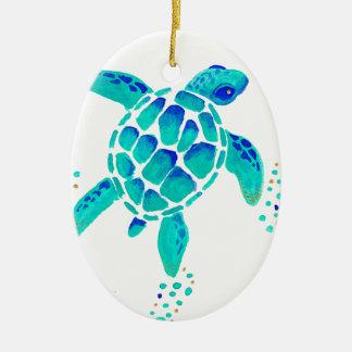 Ornement Ovale En Céramique La tortue de Neptune