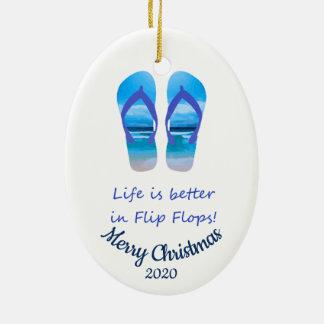 Ornement Ovale En Céramique La vie datée de Noël de coutume mieux dans des