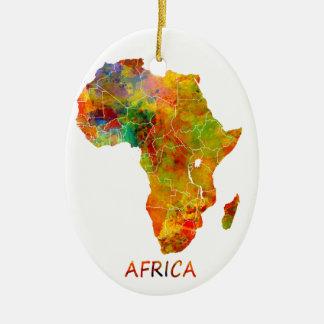 Ornement Ovale En Céramique L'Afrique