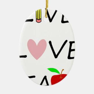 Ornement Ovale En Céramique l'amour vivant enseignent