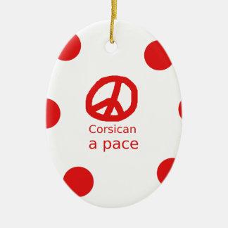 Ornement Ovale En Céramique Langue et conception corses de symbole de paix