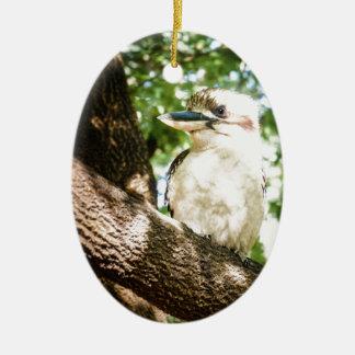 Ornement Ovale En Céramique L'Australie mignonne Kookaburra