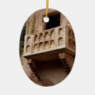 Ornement Ovale En Céramique Le balcon de Juliet