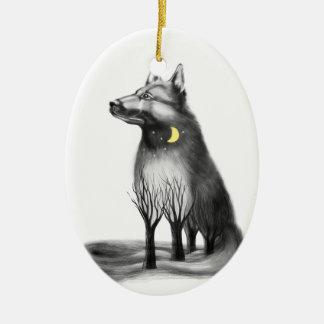 Ornement Ovale En Céramique Le chien est la mascotte de la nouvelle année