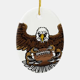 Ornement Ovale En Céramique le football d'aigle
