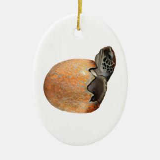 Ornement Ovale En Céramique Le Hatchling