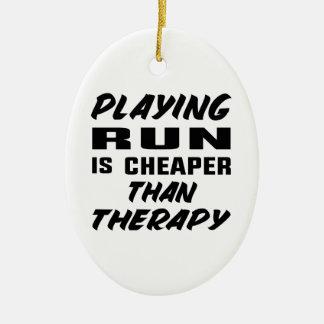 Ornement Ovale En Céramique Le jeu couru est meilleur marché que la thérapie