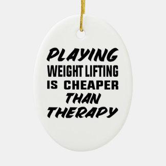 Ornement Ovale En Céramique Le jeu de l'haltérophilie est meilleur marché que