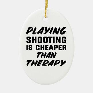 Ornement Ovale En Céramique Le jeu du tir est meilleur marché que la thérapie