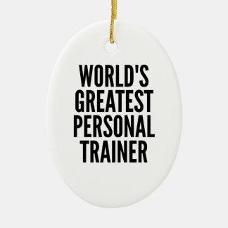 Ornement Ovale En Céramique Le plus grand entraîneur personnel des mondes
