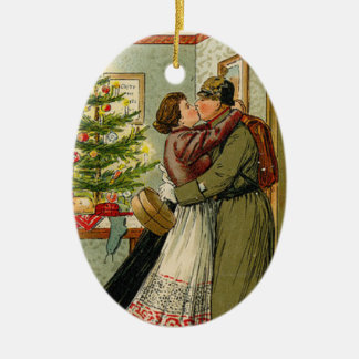 Ornement Ovale En Céramique Le retour du soldat pour Weihnachten