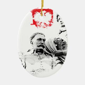 Ornement Ovale En Céramique Le Roi polonais janv. III Sobieski et Marysienka