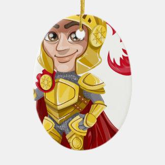 Ornement Ovale En Céramique Le Roi prince Armor