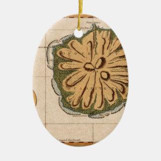 Ornement Ovale En Céramique Le Tahiti 1769