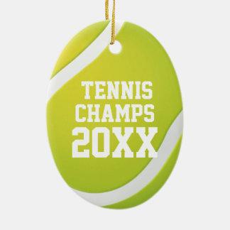 Ornement Ovale En Céramique Le tennis mâche des cadeaux de sport de 20XX |