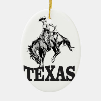 Ornement Ovale En Céramique Le Texas noir