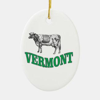 Ornement Ovale En Céramique le Vermont vert