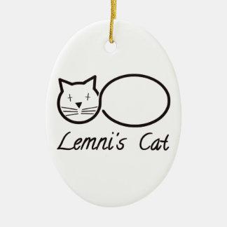 Ornement Ovale En Céramique lemniscate le chat de lemni