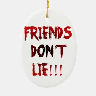 Ornement Ovale En Céramique Les amis ne se trouvent pas !
