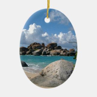Ornement Ovale En Céramique Les Îles Vierges