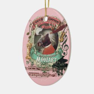 Ornement Ovale En Céramique Les orignaux Mozart de Wolfgang Amadeus Moozart