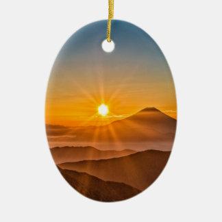 Ornement Ovale En Céramique Lever de soleil