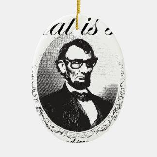 Ornement Ovale En Céramique Lincoln qui est ainsi quatre-vingt et il y a de