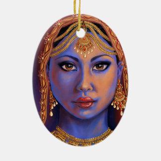 Ornement Ovale En Céramique L'Inde : Jeune mariée
