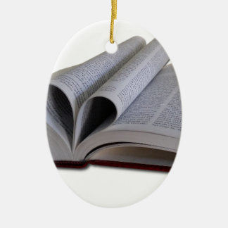 Ornement Ovale En Céramique Livre de ministère de bible
