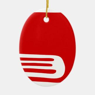 Ornement Ovale En Céramique Livre rouge