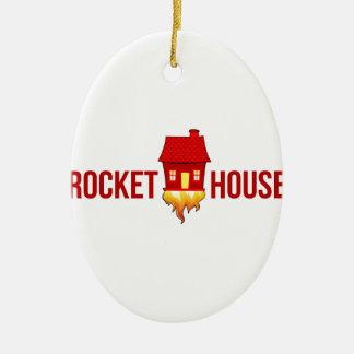 Ornement Ovale En Céramique Logo T de RocketHouse