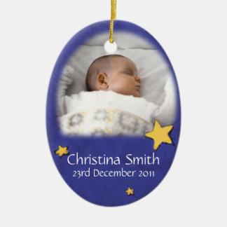 Ornement Ovale En Céramique L'ornement nouveau-né de Noël d'ange possèdent la