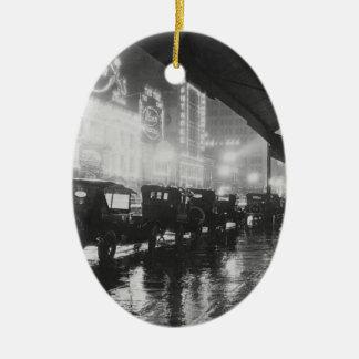 Ornement Ovale En Céramique Los Angeles 1920