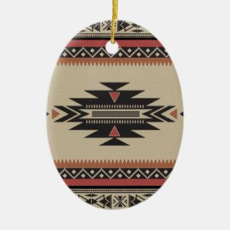 Ornement Ovale En Céramique L'os, noir, se rouillent style indien