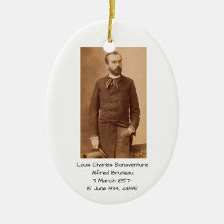 Ornement Ovale En Céramique Louis Charles Bonaventure Alfred Bruneau