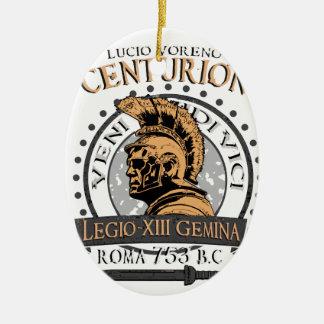 Ornement Ovale En Céramique Lucius Voreno, un centurion romain célèbre