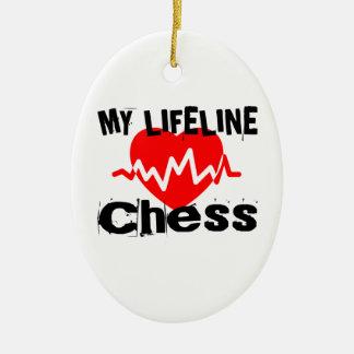Ornement Ovale En Céramique Ma ligne de vie échecs folâtre des conceptions