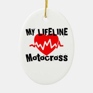 Ornement Ovale En Céramique Ma ligne de vie motocross folâtre des conceptions