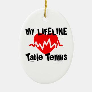 Ornement Ovale En Céramique Ma ligne de vie ping-pong folâtre des conceptions