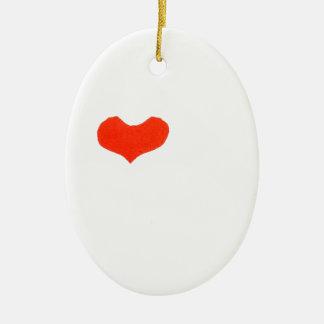 Ornement Ovale En Céramique main heart1