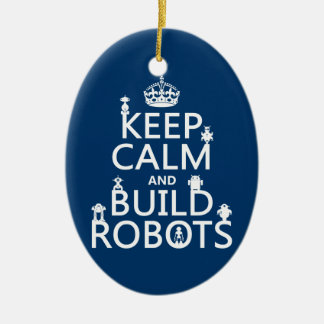 Ornement Ovale En Céramique Maintenez les robots calmes et de construction