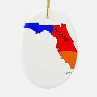 Ornement Ovale En Céramique Maison de la Floride