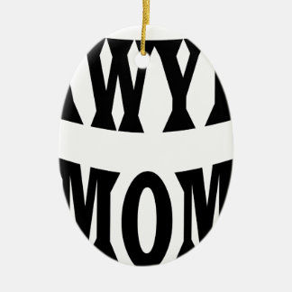 Ornement Ovale En Céramique maman d'avocat