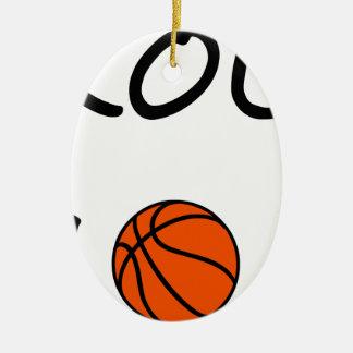 Ornement Ovale En Céramique Maman de basket-ball