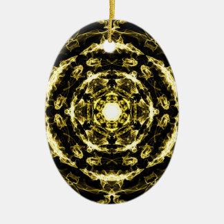 Ornement Ovale En Céramique Mandala