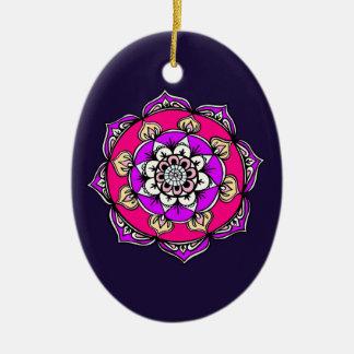 Ornement Ovale En Céramique Mandala lumineux