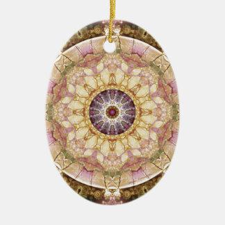 Ornement Ovale En Céramique Mandalas du coeur du changement 2, articles de