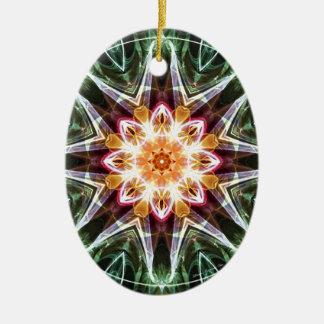 Ornement Ovale En Céramique Mandalas du coeur du changement 5, articles de