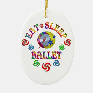 Ornement Ovale En Céramique Mangez le ballet de sommeil