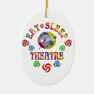 Ornement Ovale En Céramique Mangez le théâtre de sommeil